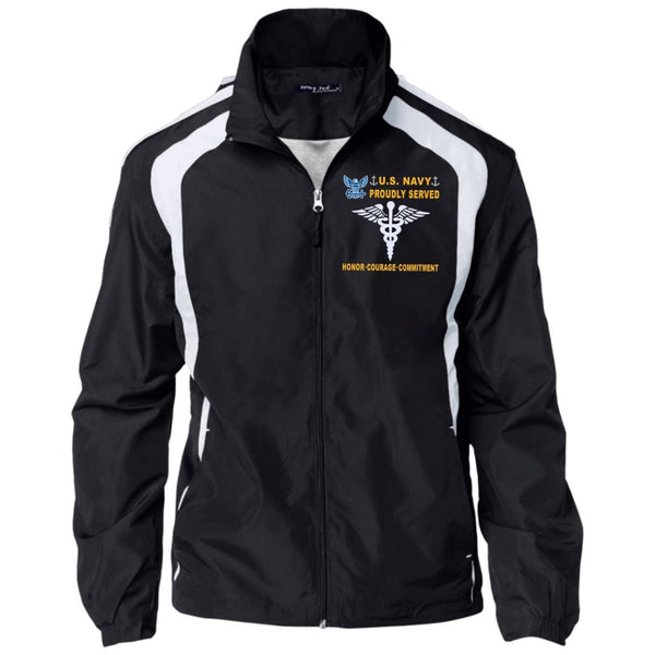 US Navy Hospital Corpsman HM - Proudly Served-D04 Embroidered Sport-Tek Jersey-Lined Jacket