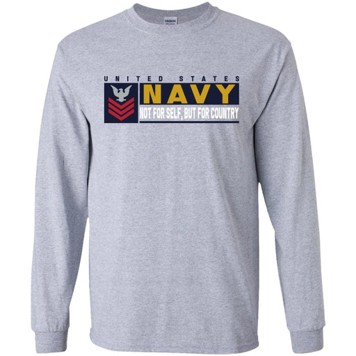 US Navy E-6 Petty Officer First Class E6 PO1 Not For Self, But For Country Long Sleeve - Pullover Hoodie