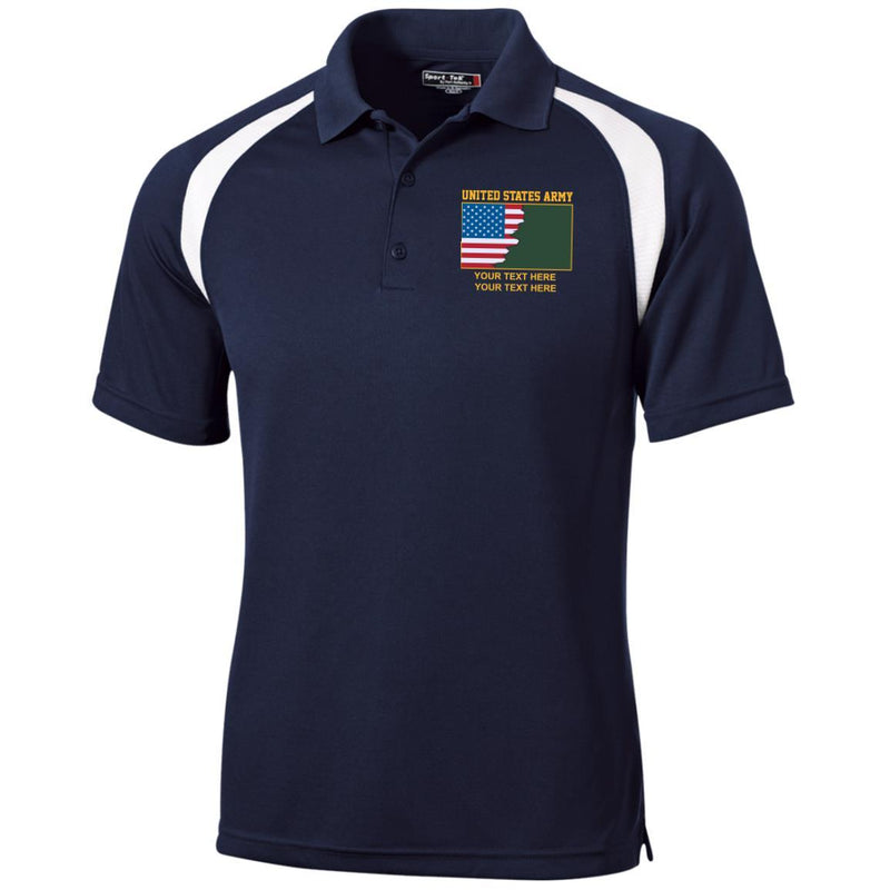 US Army Ranks - Personalized Embroidered Sport-Tek® Golf Shirt