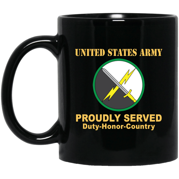 US ARMY 1ST INFORMATION OPERATIONS COMMAND- 11 oz - 15 oz Black Mug