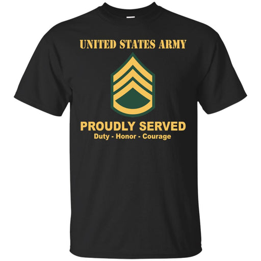 US Army E-6 Staff Sergeant E6 SSG Noncommissioned Officer Ranks Men Front Shirt US Army Rank