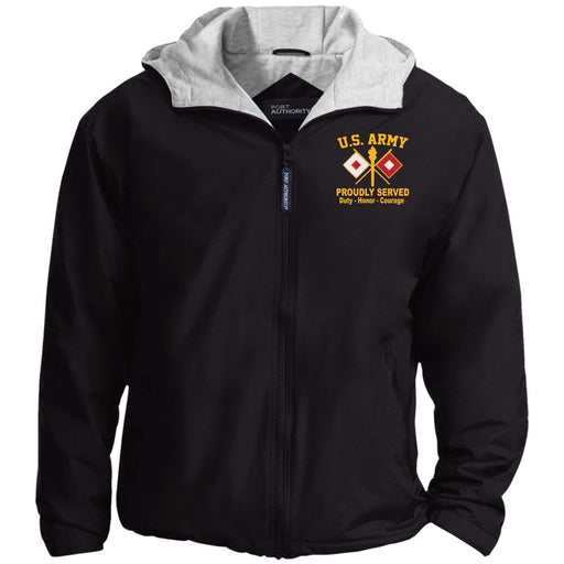 US Army Signal Corps Embroidered Port Authority® Hoodie Team Jacket