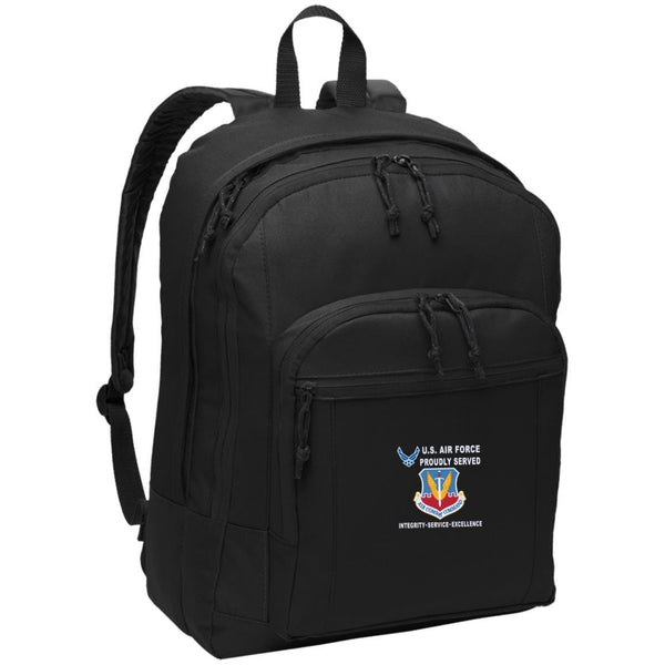US Air Force Air Combat Command Proudly Served-D04 Embroidered Backpack