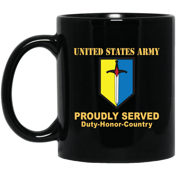 US ARMY 1ST MANEUVER ENHANCEMENT BRIGADE- 11 oz - 15 oz Black Mug