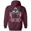 Army Veteran - Enjoy your freedom I paid for it Men Back T Shirts