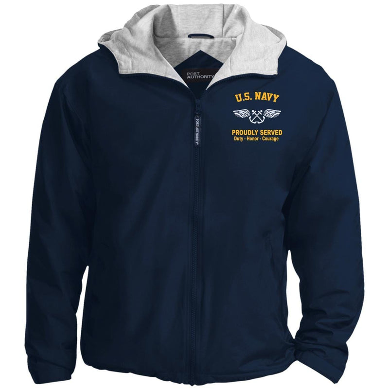 US Navy Aviation Boatswain's Mate AB Logo Embroidered Hoodie Team Jacket