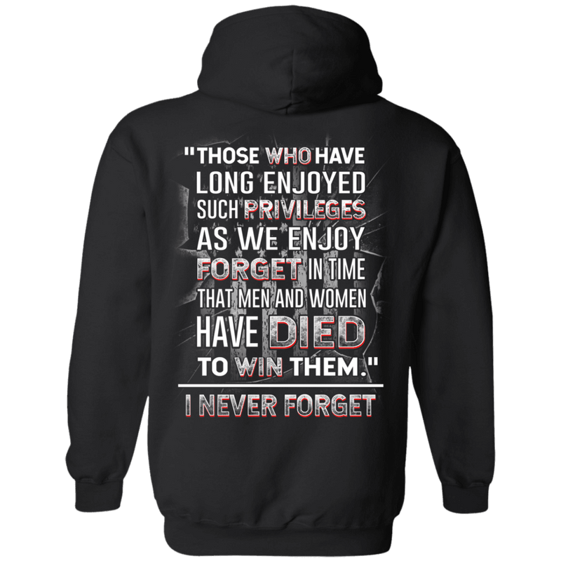 I Never Forget Men And Women Veteran - Men Back T Shirt