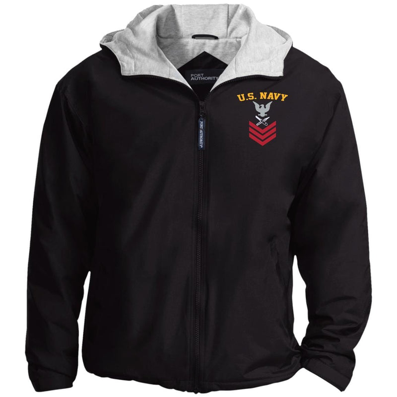 US Navy Lithographer LI E-6 Rating Badges Embroidered Hoodie Team Jacket
