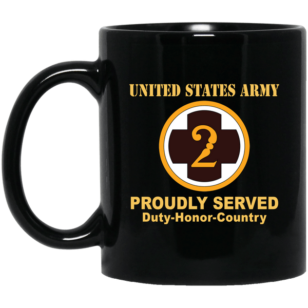 US ARMY 2ND MEDICAL BRIGADE- 11 oz - 15 oz Black Mug