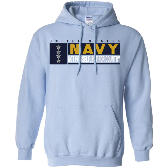 US Navy O-10 Admiral O10 ADM Not For Self, But For Country Long Sleeve - Pullover Hoodie
