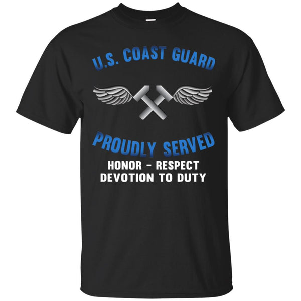 US Coast Guard Aviation Metalsmith AM Logo Proudly Served T-Shirt For Men On Front