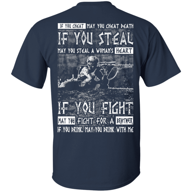 Veteran - Fight For a Brother, Drink With Me T Shirt