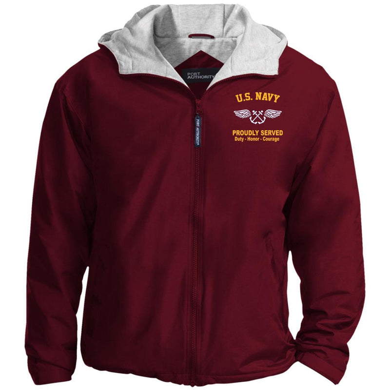 US Navy Aviation Boatswain's Mate AB Logo Embroidered Port Authority® Hoodie Team Jacket