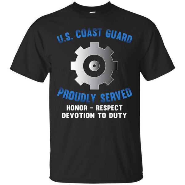 US Coast Guard Machinery Technician MK Logo Proudly Served T-Shirt For Men On Front