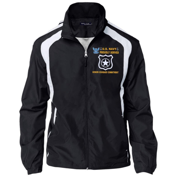 US Navy Master at Arms MA - Proudly Served-D04 Embroidered Sport-Tek Jersey-Lined Jacket