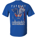 Independent Day - Patriot Supports America - Men Back T Shirt