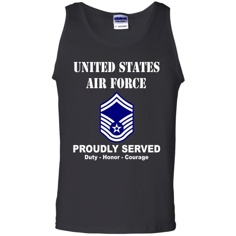 US Air Force E-8 Senior Master Sergeant SMSgt E8 Noncommissioned Officer Men Front T Shirt For Air Force