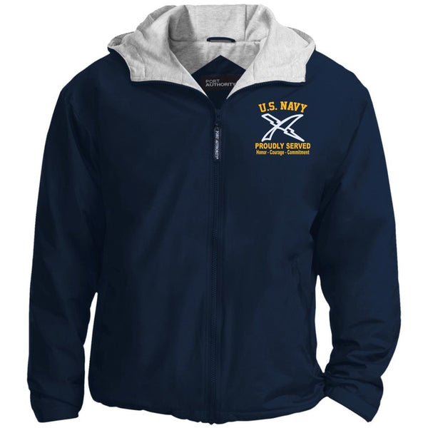 US Navy Cryptologic Technician CT Logo Embroidered Port Authority® Hoodie Team Jacket