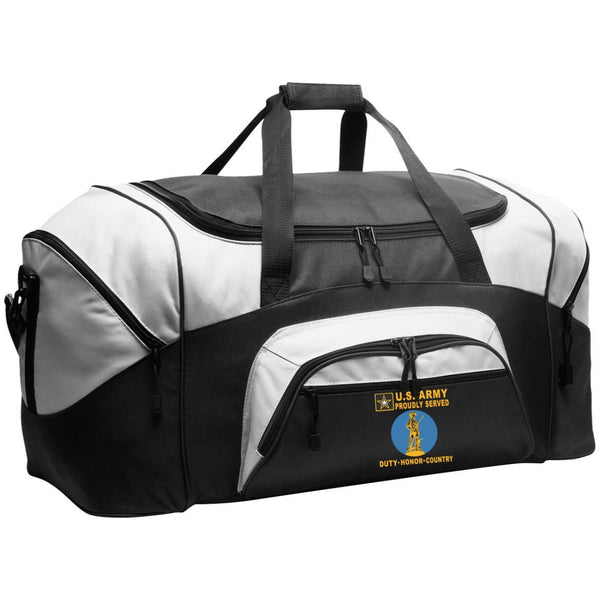 US Army National Guard Badge - Proudly Served-D04 Embroidered Duffel Bag