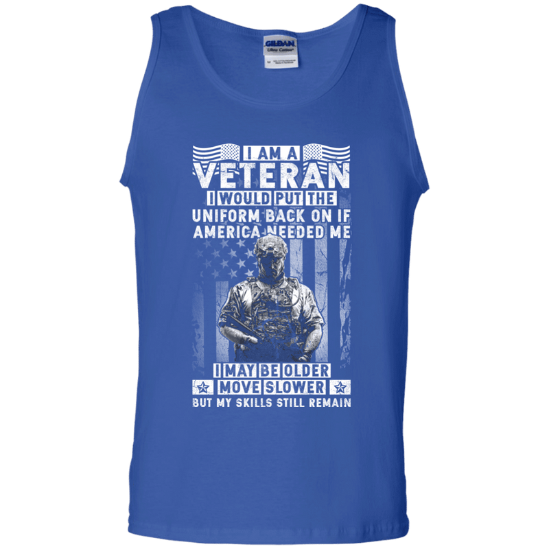 I am a Veteran Men Front T Shirt
