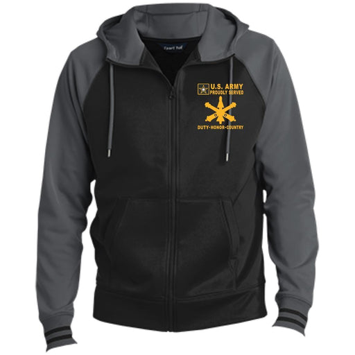 US Army Air Defense Artillery - Proudly Served-D04 Embroidered Sport-Tek® Full-Zip Hooded Jacket