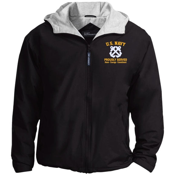 US Navy Boatswains Mate BM Logo Embroidered Port Authority® Hoodie Team Jacket