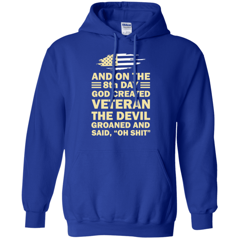 US Army and on the 8th Day God Created Veteran T Shirt