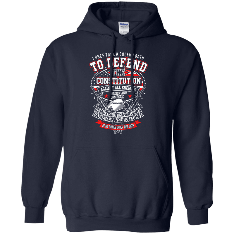 "Military T-Shirt ""I Once Tool A Solemn Oath to Defend The Constitution Men"" Front"
