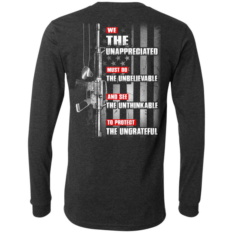 UNAPPRECIATED VETERAN - Men Back T Shirt
