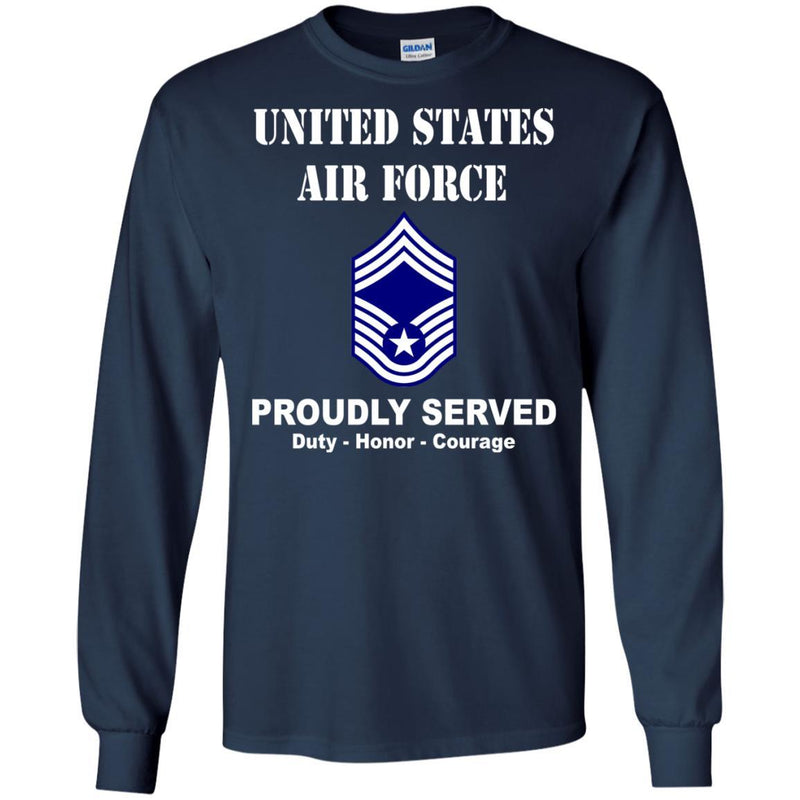 US Air Force E-9 Chief Master Sergeant CMSgt E9 Noncommissioned Officer Ranks Men Front T Shirt For Air Force