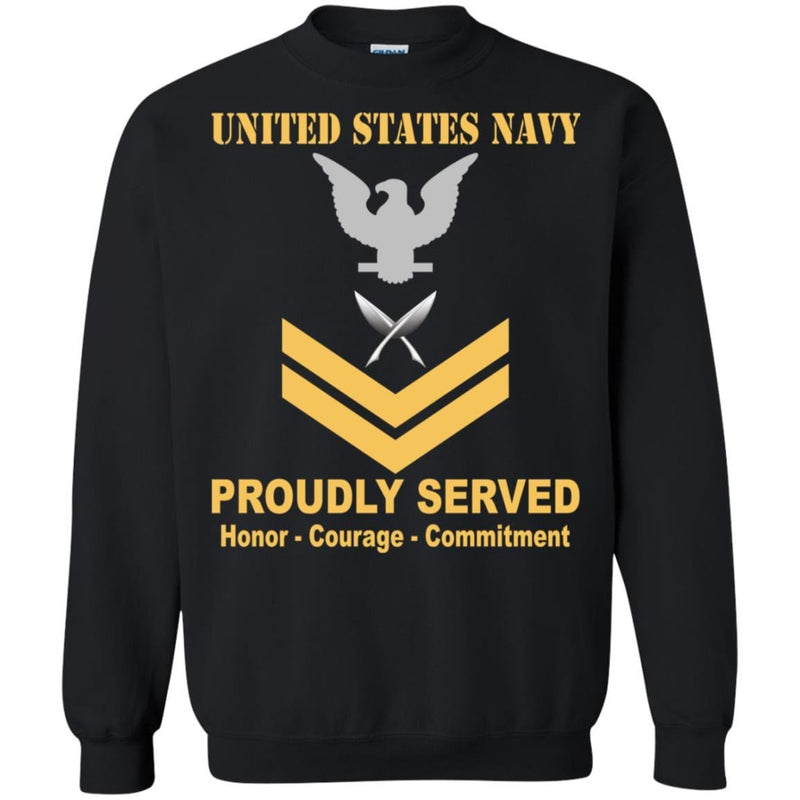 U.S Navy Yeoman Navy YN E-5 Rating Badges Proudly Served T-Shirt For Men On Front