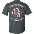 Veteran - Stand For The Flag Kneel For The Cross T Shirt
