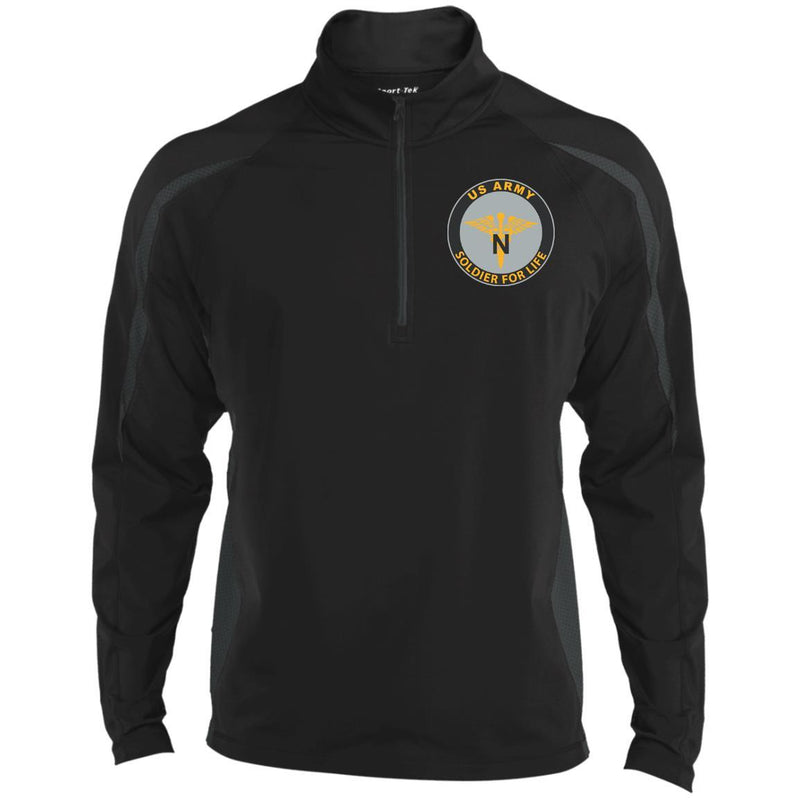 US Army Nurse Corps Soldier For Life Embroidered Sport-Tek Pullover V-Neck Windshirt