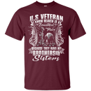 "Military T-Shirt ""HEAVEN IS THE BEAUTIFUL PLACE WITH BROTHERS AND SISTERS VETERAN"""