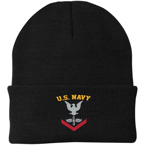 US Navy Aviation Machinist's Mate AD E-4 Rating Badges Embroidered Port Authority Knit Cap