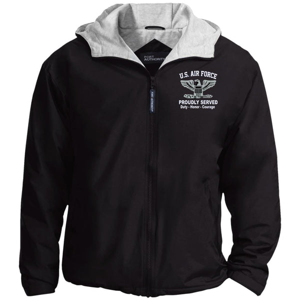US Air Force O-6 Colonel Col O6 Field Officer Proudly Served Embroidered Port Authority® Hoodie Team Jacket