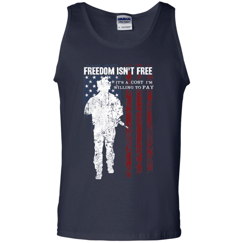 Freedom Is Not Free - Willing to Pay Men Front T Shirt