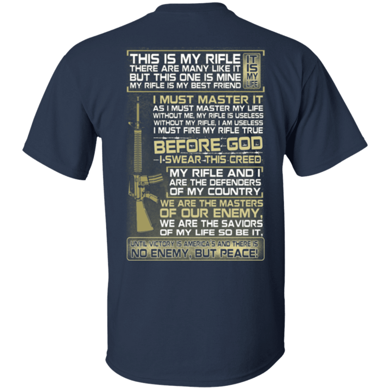 Veteran - This is My Rifle I Must Master It T Shirt