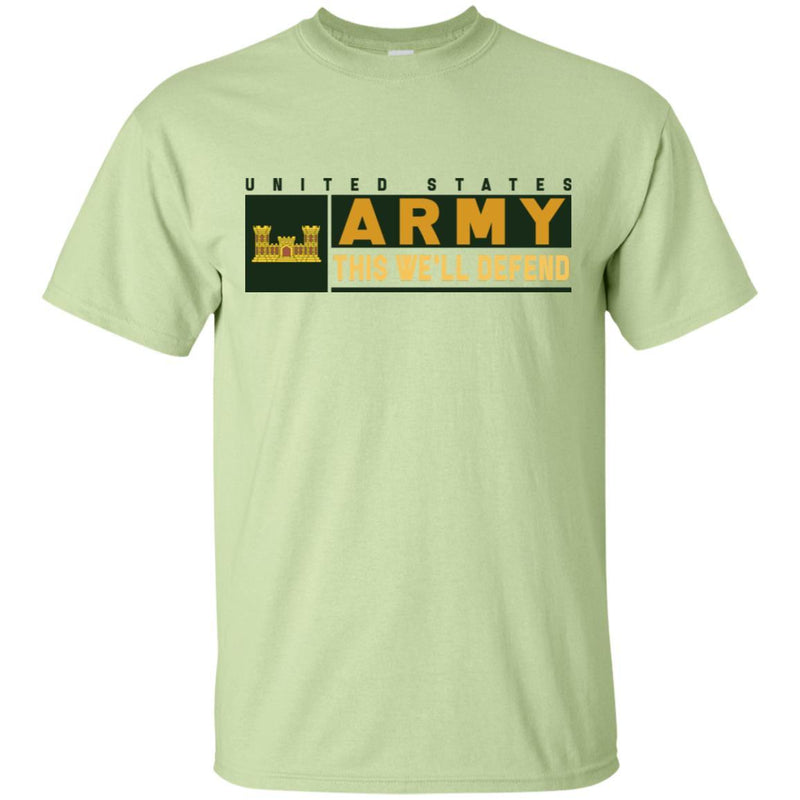 U.S. Army Corps of Engineers- This We'll Defend T-Shirt On Front For Men