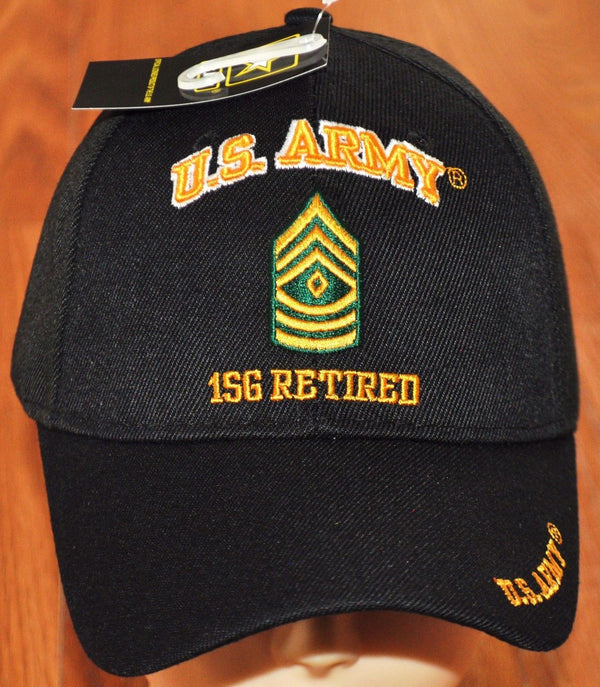 US Army E-8 First Sergeant E8 1SG Retired Hats Officially Licensed