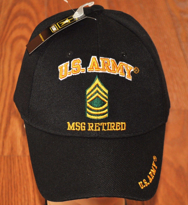 US Army E-8 Master Sergeant E8 MSG Retired Hats Officially Licensed