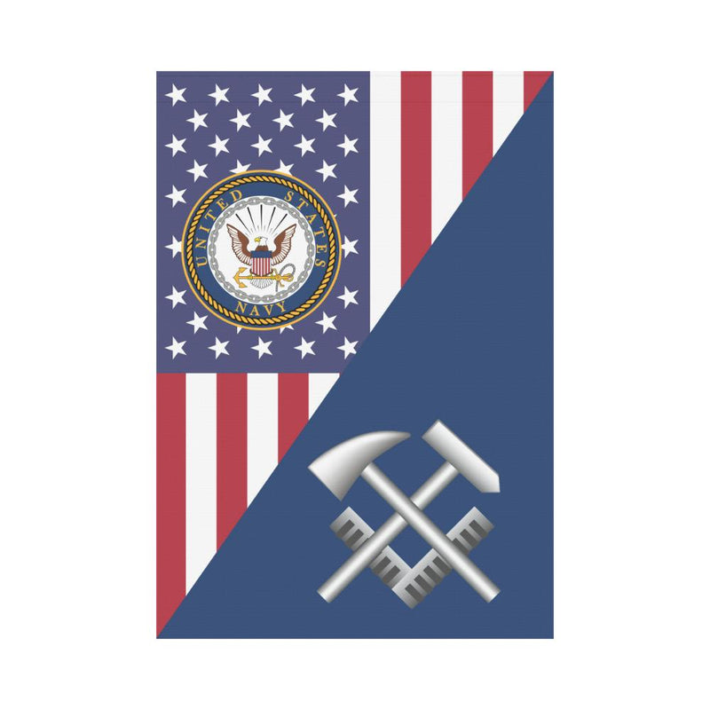 US Navy Hull Maintenance Technician Navy HT House Flag 28 inches x 40 inches Twin-Side Printing
