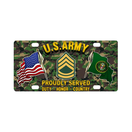 US Army E-7 Sergeant First Class E7 SFC Noncommiss Classic License Plate
