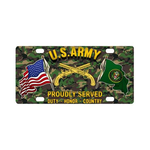 U.S. Army Military Police Corps Proudly Plate Frame Classic License Plate