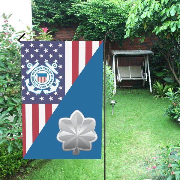 US Coast Guard O-5 Commander O5 CDR Senior Officer Garden Flag/Yard Flag 12 inches x 18 inches