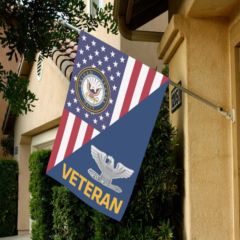 US Navy O-6 Captain O6 CAPT Senior Officer Veteran House Flag 28 inches x 40 inches Twin-Side Printing