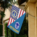 US Air Force E-8 Senior Master Sergeant SMSgt Veteran House Flag 28 inches x 40 inches Twin-Side Printing