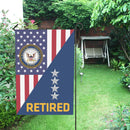 US Navy O-10 Admiral O10 ADM Flag Officer Retired House Flag 28 inches x 40 inches Twin-Side Printing