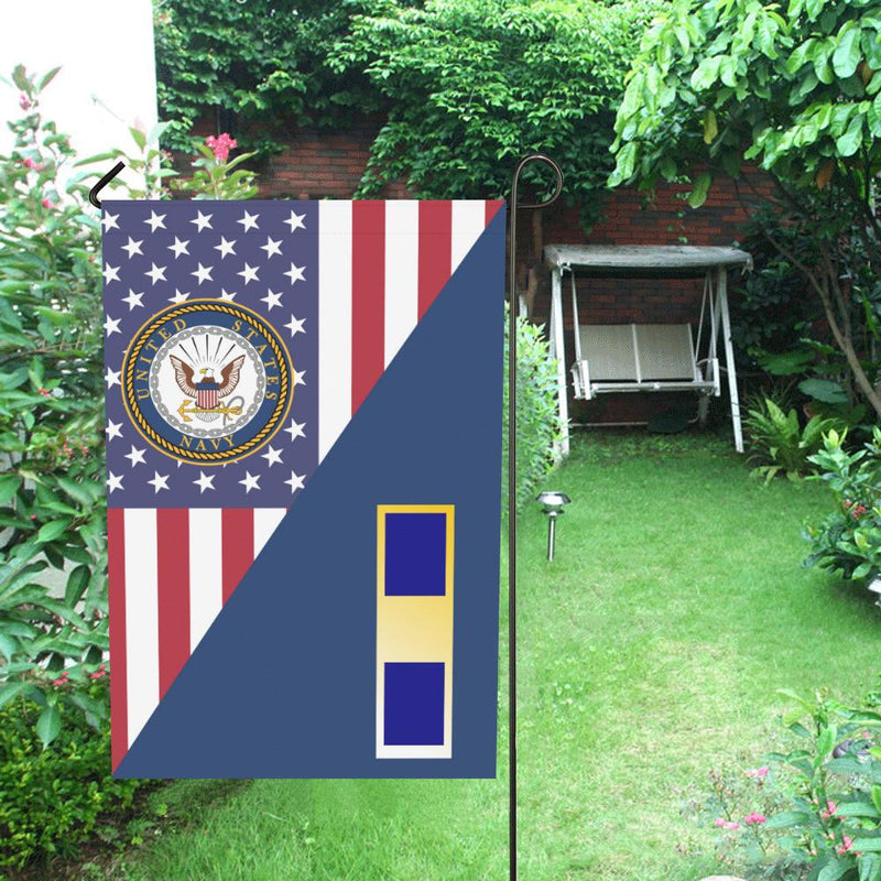 US Navy W-1 Warrant Officer W1 WO1 Garden Flag/Yard Flag 12 inches x 18 inches Twin-Side Printing