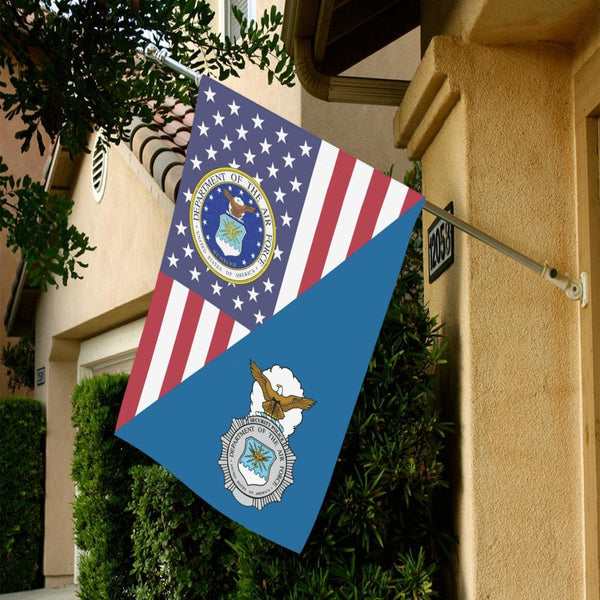 US Air Force Security Police House Flag 28 inches x 40 inches Twin-Side Printing